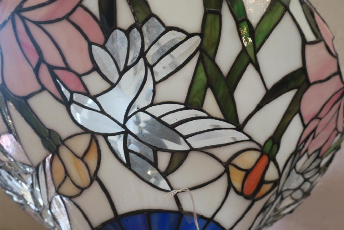 Leaded Glass Tiffany Style Floral Shade: - 2