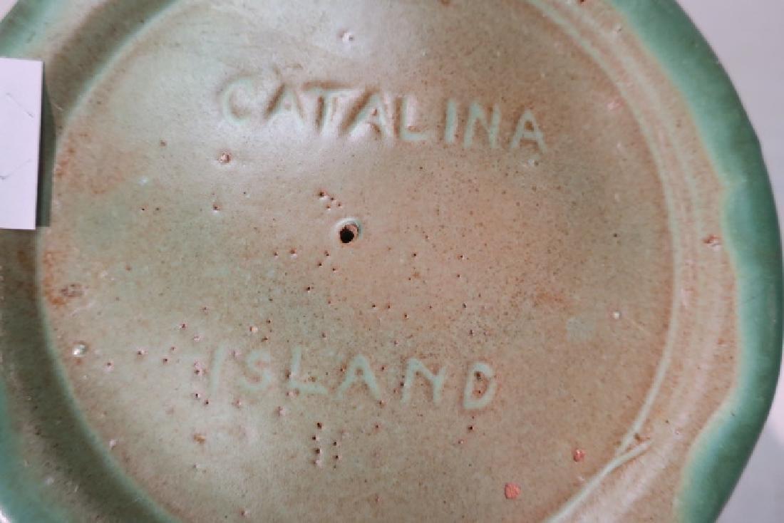 Rare Pair of Catalina Island Pottery Candlesticks: - 5