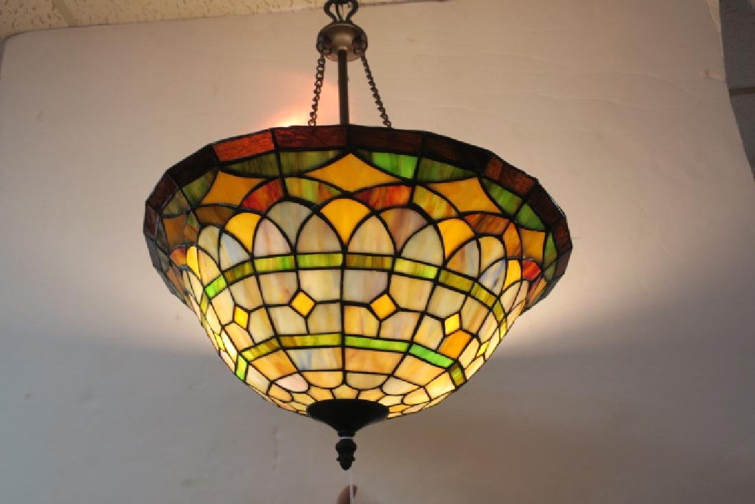 Leaded Glass Hanging Lamp: