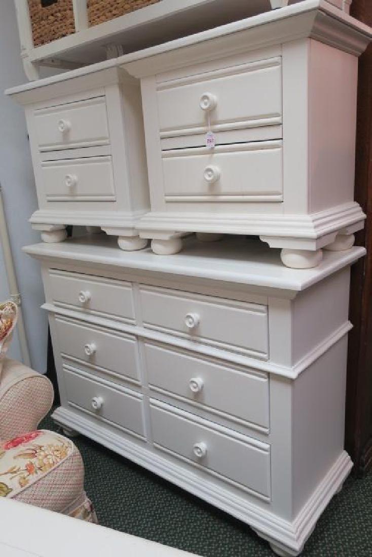 5 Pc. Modern White Bedroom Furniture: - 2