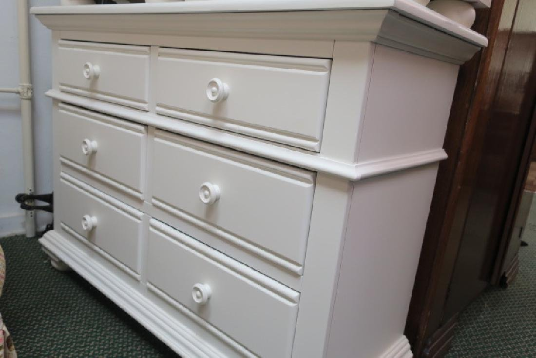 5 Pc. Modern White Bedroom Furniture: - 4