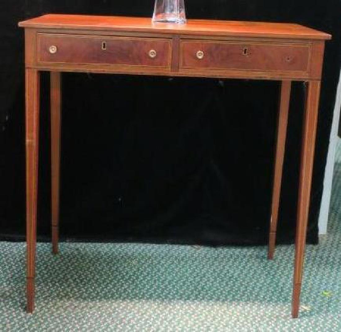 Hepplewhite Style Hall Table with Line Inlay: