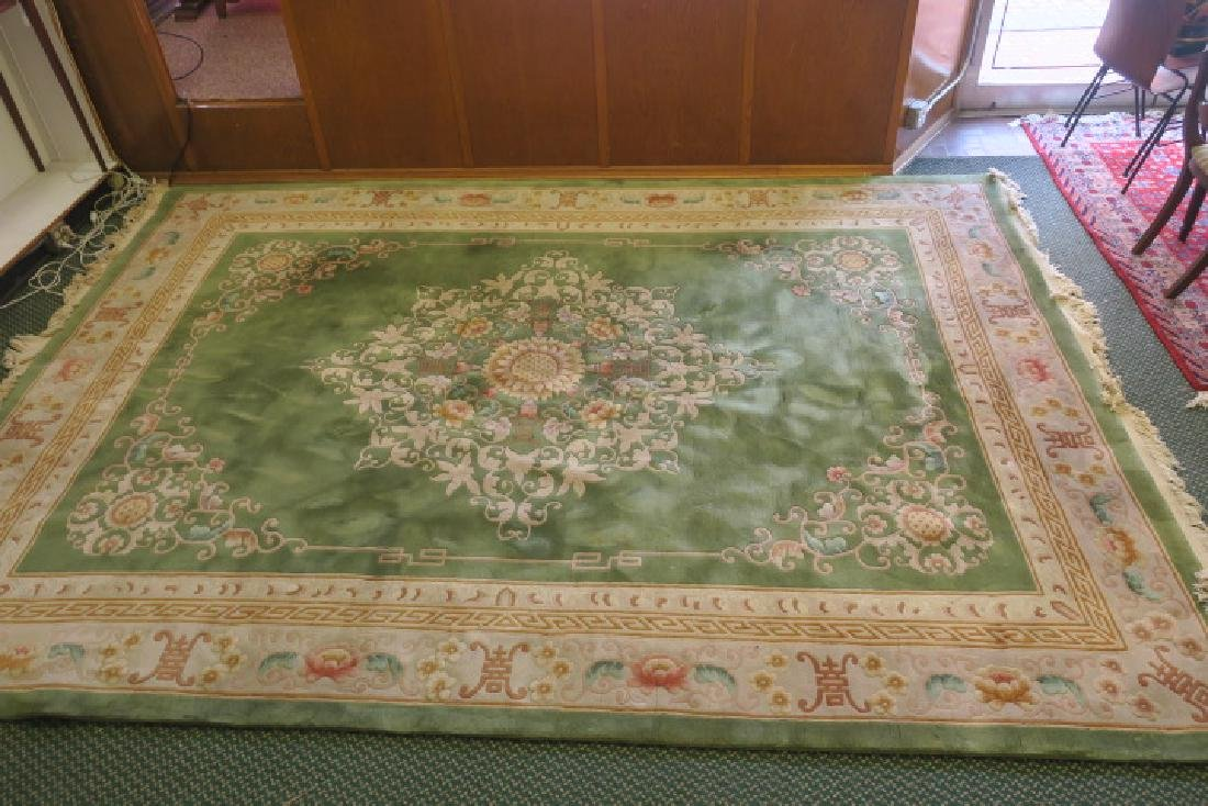 Hand Knotted Plush Chinese Sculpted Rug: