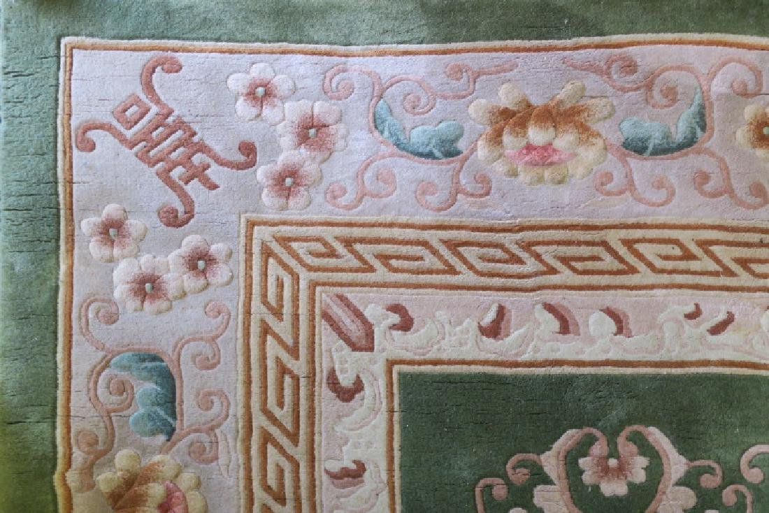Hand Knotted Plush Chinese Sculpted Rug: - 5