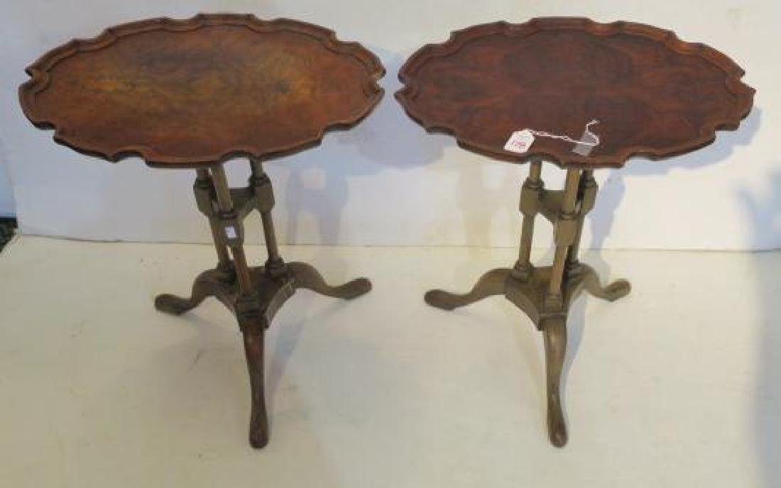 Pair of Petite Oval Candle Tables:
