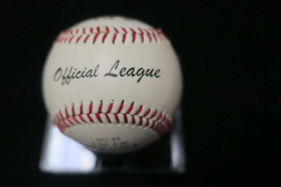 JIM CATFISH HUNTER Autographed Baseball: - 2