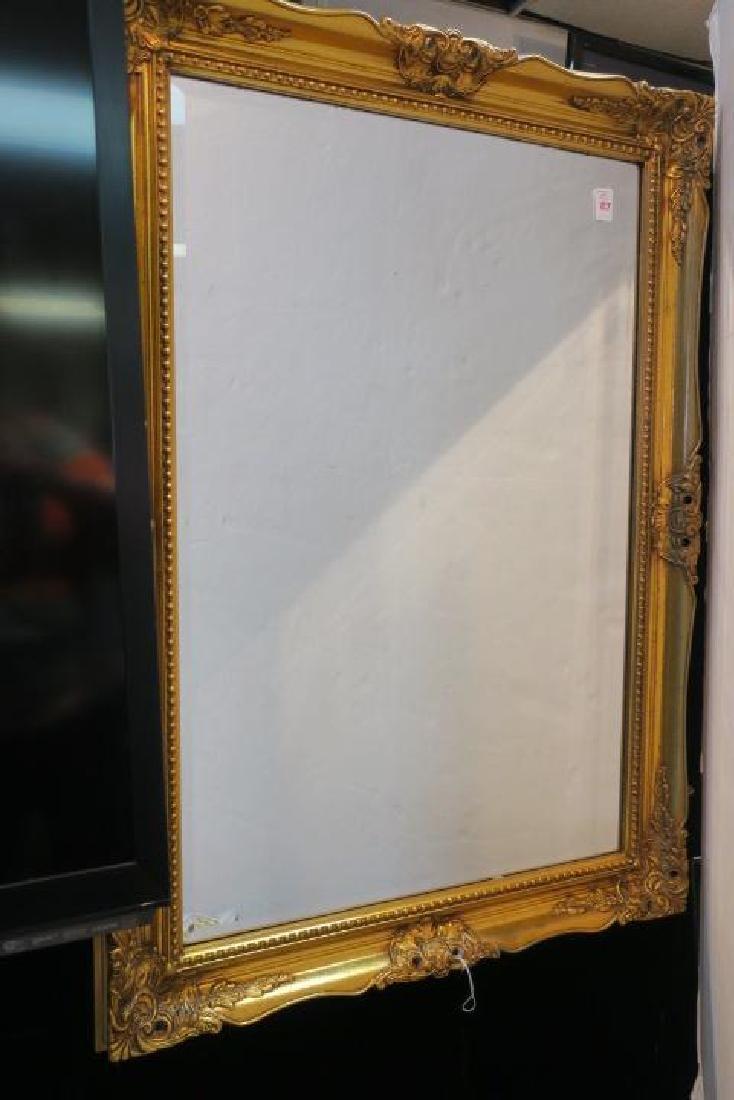 Gilt Gesso Frame Wall Mirror: