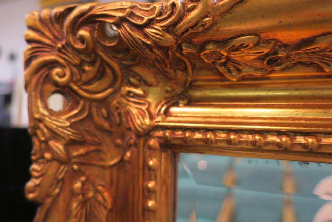 Gilt Gesso Frame Wall Mirror: - 2