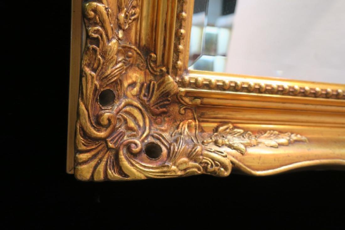 Gilt Gesso Frame Wall Mirror: - 3