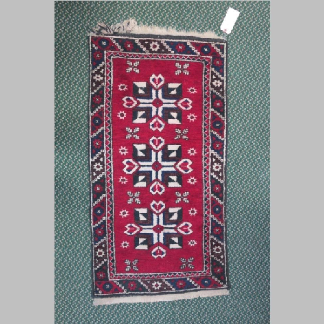 Handwoven Wool Iranian Area Rug: