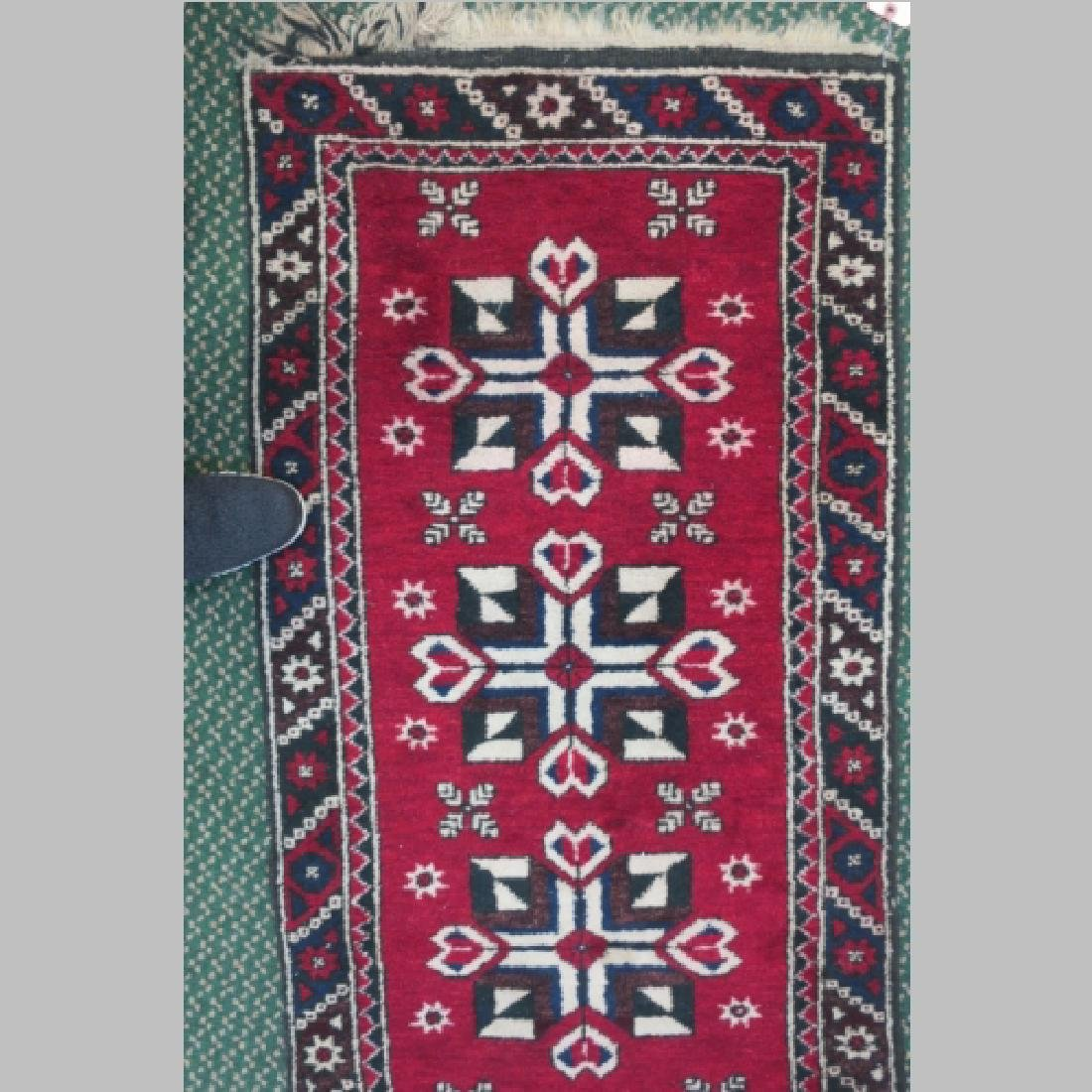 Handwoven Wool Iranian Area Rug: - 3