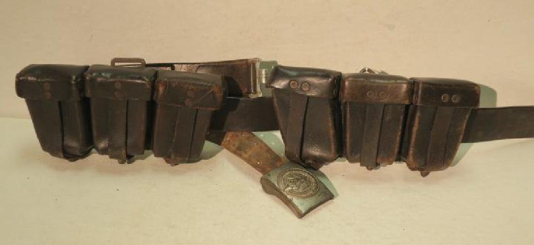 German WW II Leather Ammunition Belt: