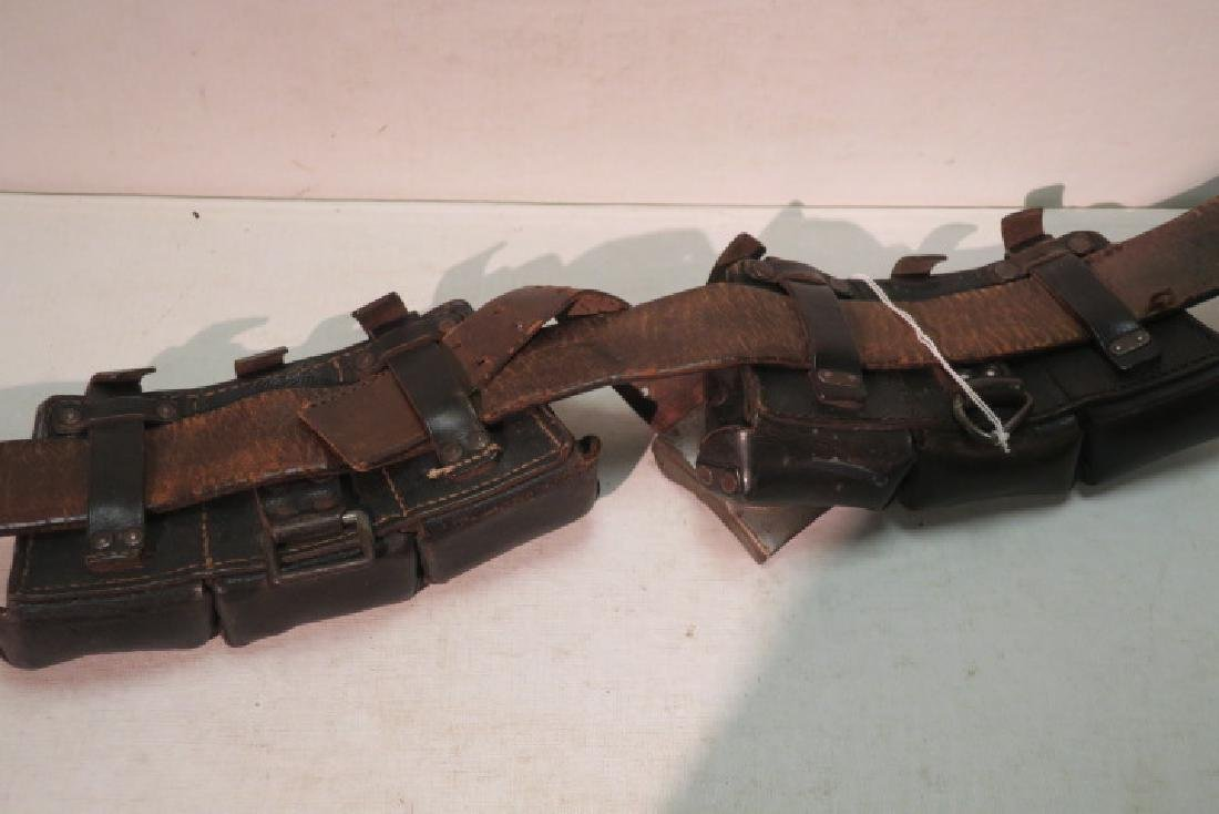 German WW II Leather Ammunition Belt: - 4