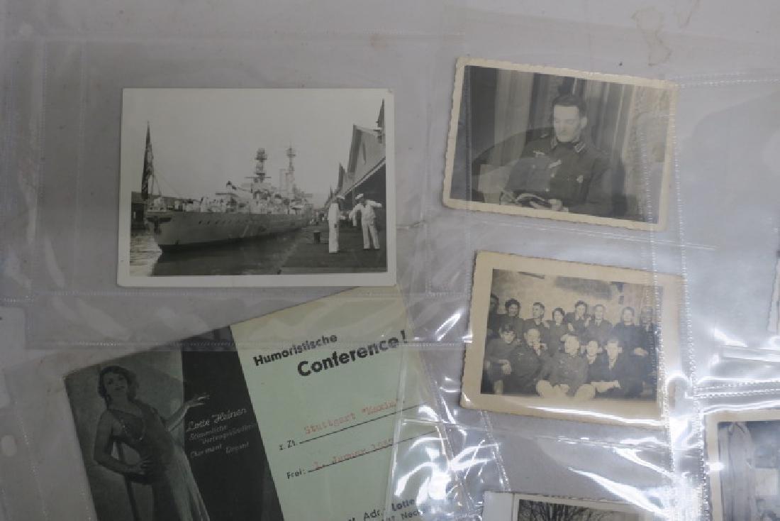 EPHEMERA German Army WW II Photos and Paper: - 2