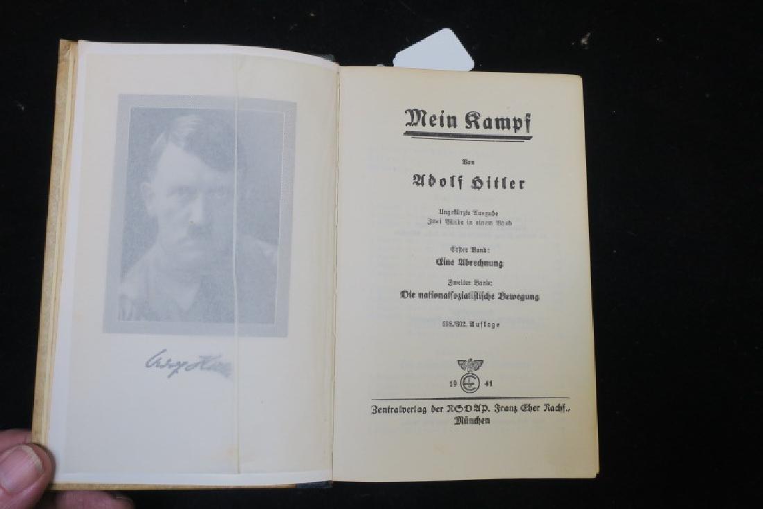 Book, MEIN KAMPF, 1941 Edition: - 2