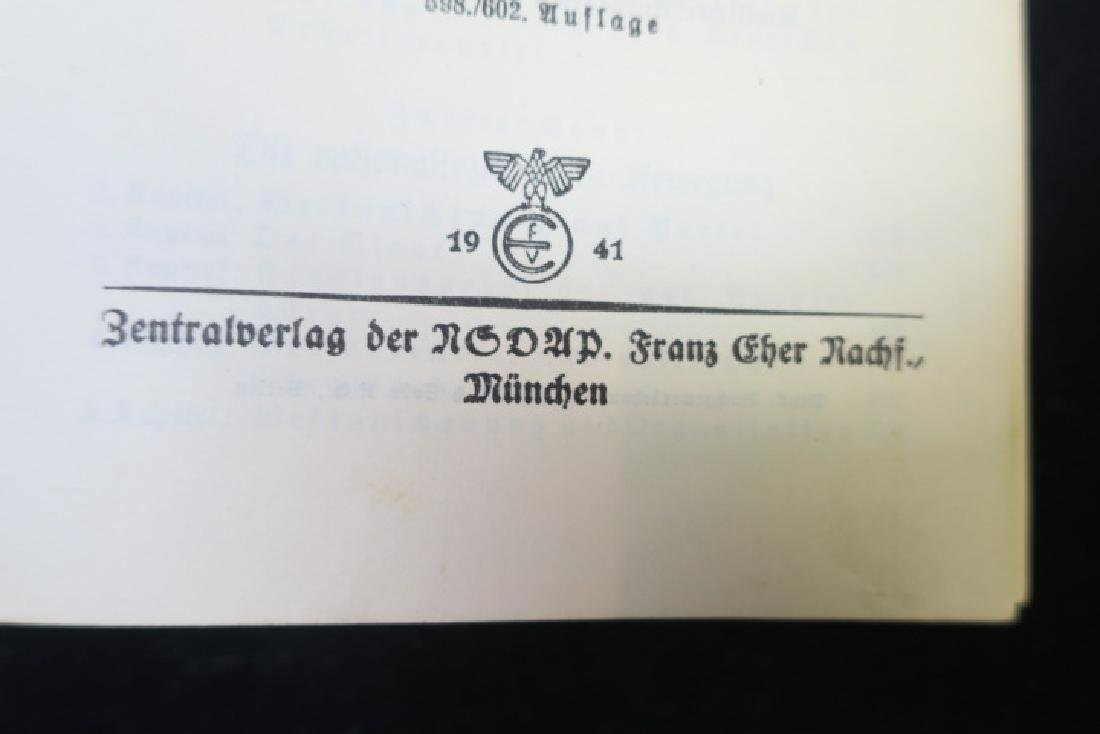 Book, MEIN KAMPF, 1941 Edition: - 3