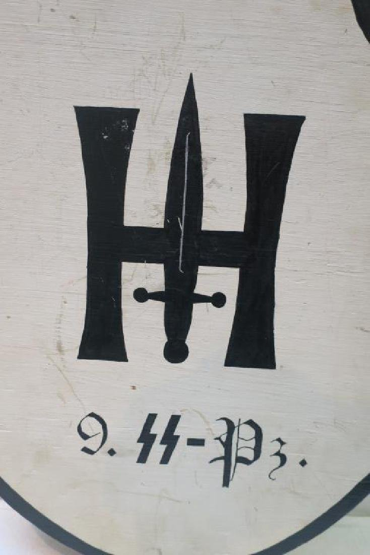 Wooden Headquarters Sign for 9 SS PANZER DIVISION: - 2