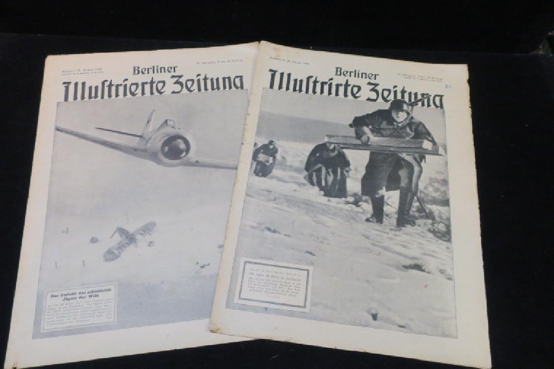 Two Copies of BERLINER ILLUSTRIRTE ZEITUNG Newspaper: