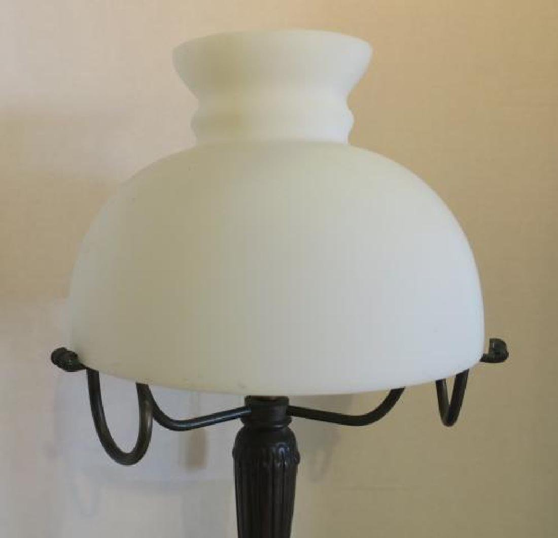 Vintage Table Lamp with Glass Dome Shade: - 3