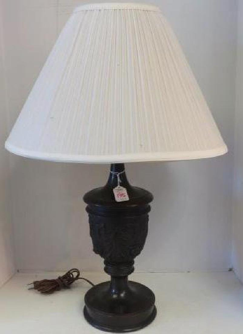 Rose Carved Wooden Table Lamp by E. KOPIWA Company: