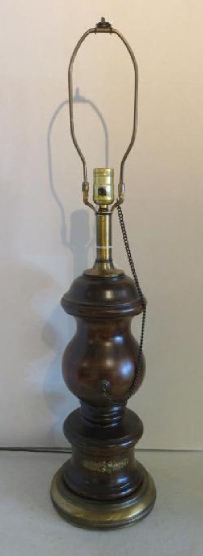 Baluster Shape Parquet Wooden Table Lamp: