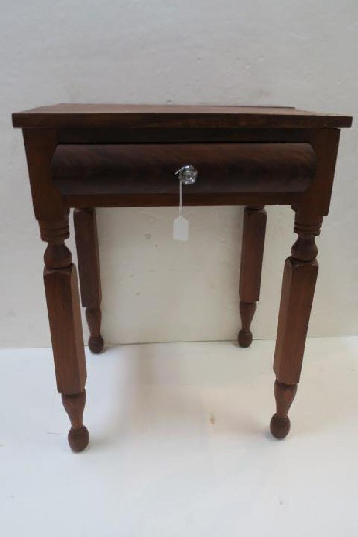19th C. Single Drawer Mixed Wood Wash Stand: