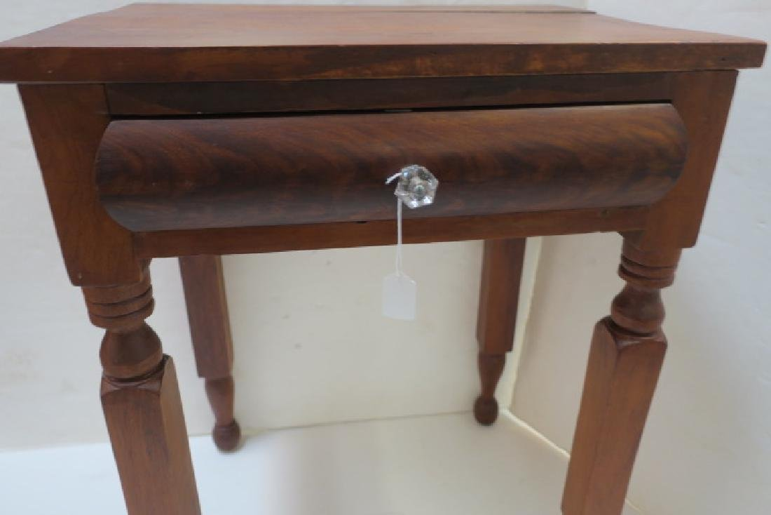 19th C. Single Drawer Mixed Wood Wash Stand: - 3
