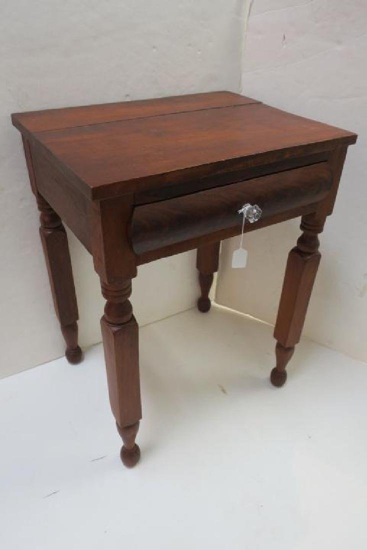 19th C. Single Drawer Mixed Wood Wash Stand: - 4