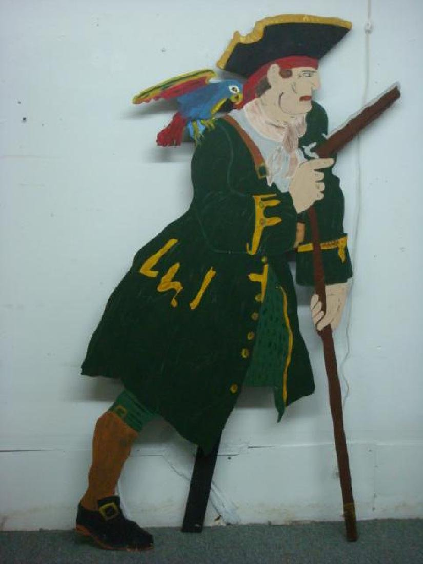 Cut Out Plywood Party Figure of Pirate: