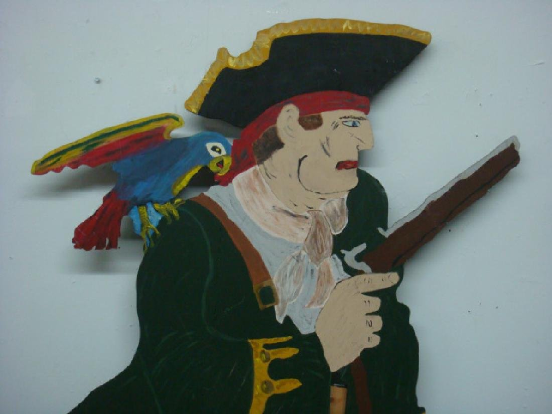 Cut Out Plywood Party Figure of Pirate: - 2