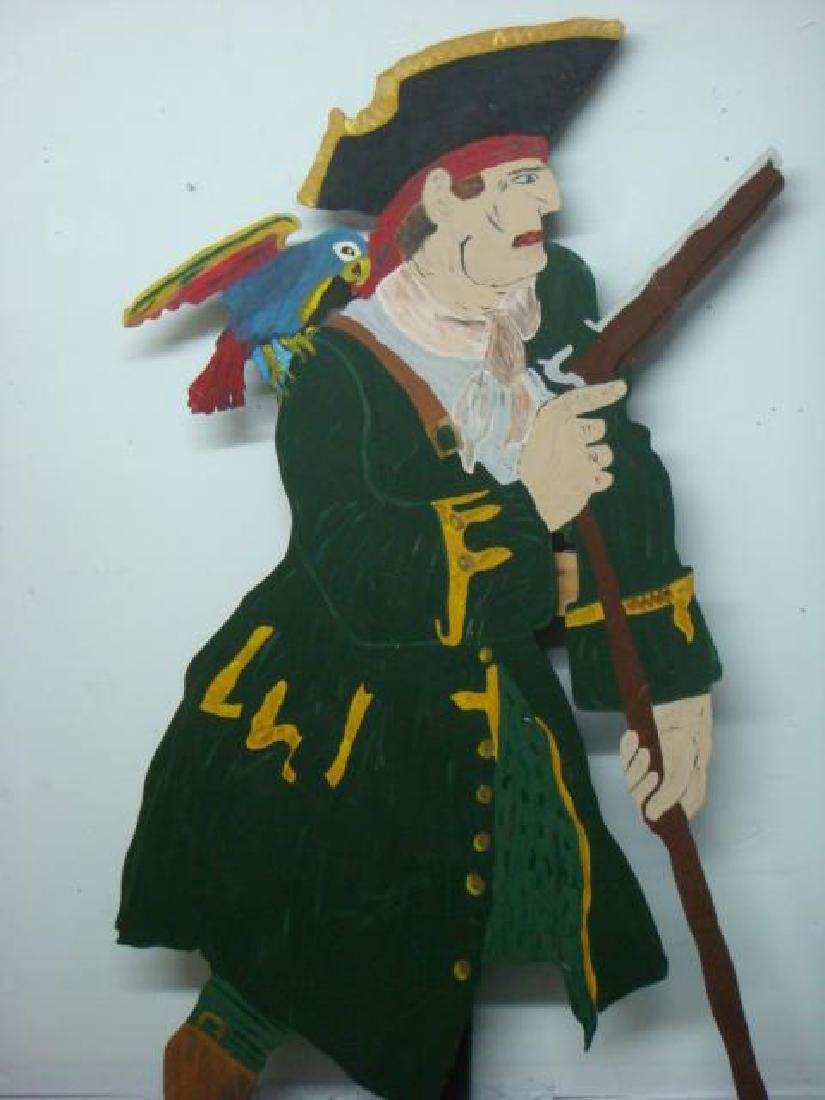 Cut Out Plywood Party Figure of Pirate: - 4