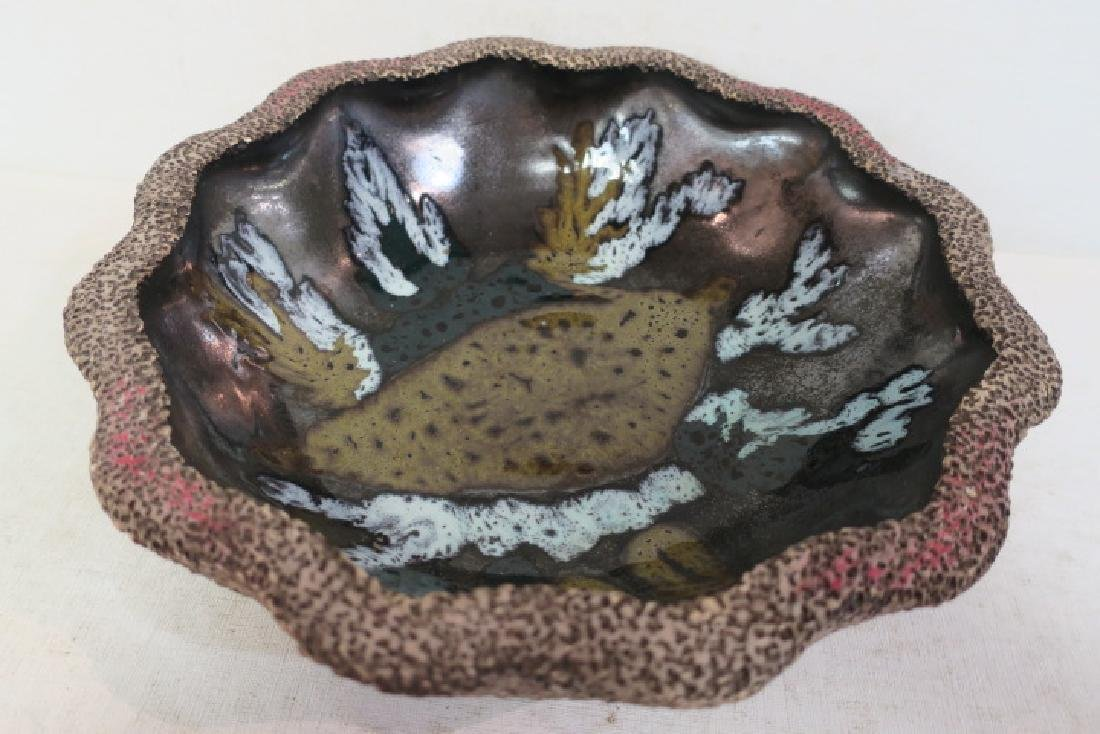 Volcanic Look Pottery Bowl Made in Spain: