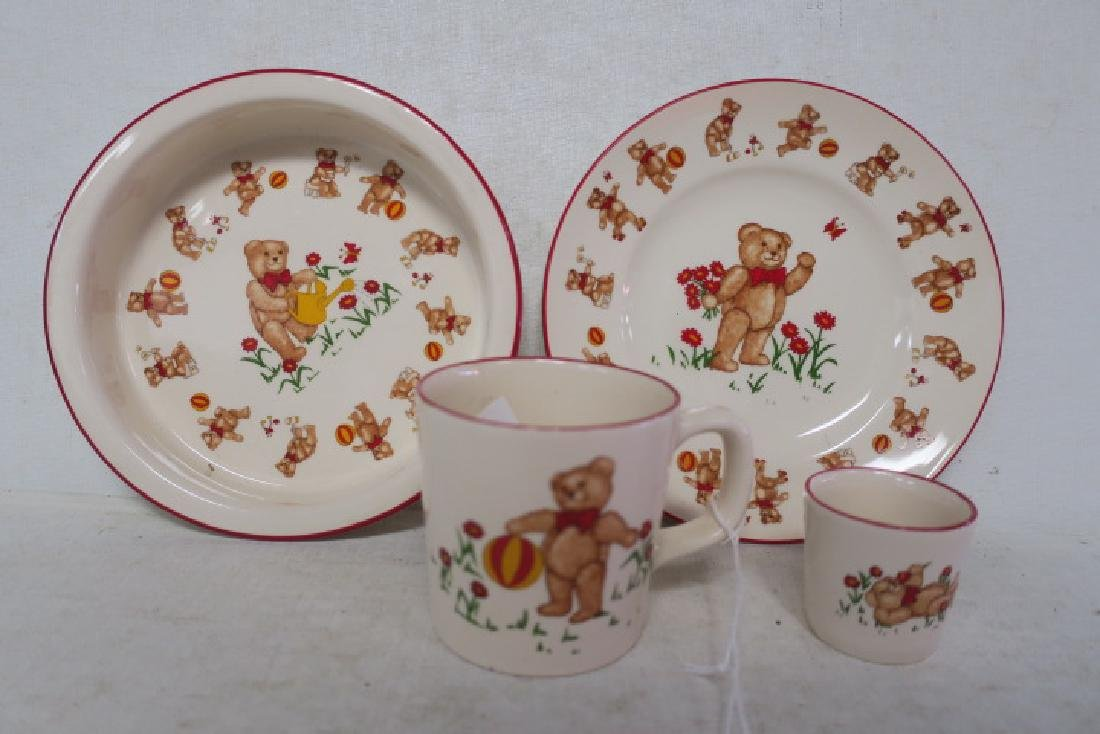 "MASON'S ""Teddy Bears"" Four Piece Childs Dinnerware:"