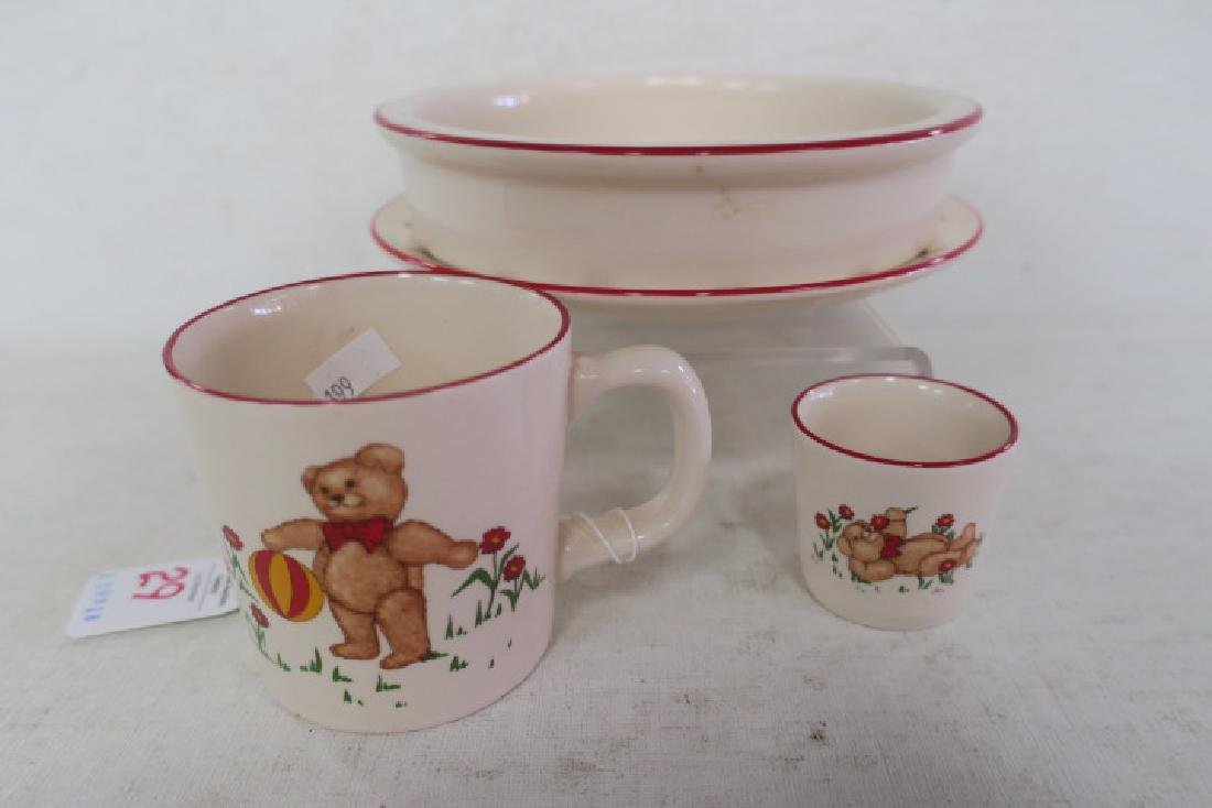 "MASON'S ""Teddy Bears"" Four Piece Childs Dinnerware: - 2"