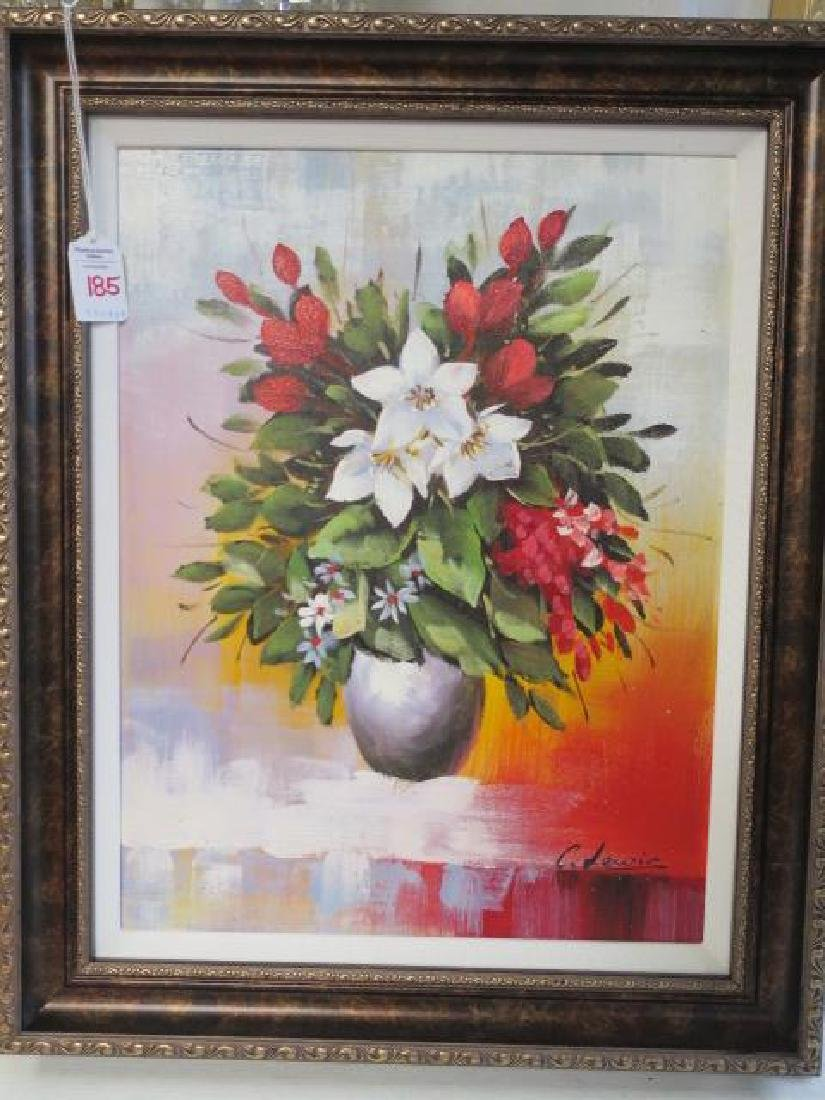 Chinese Chen Lewis (Chentai-Yu) Floral Still Life: