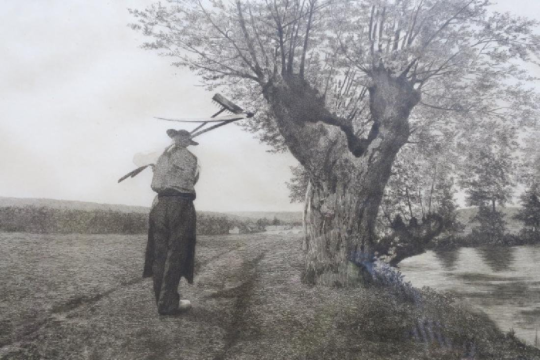 RALPH BLEYER Etching of Farmer with Remarque: - 4