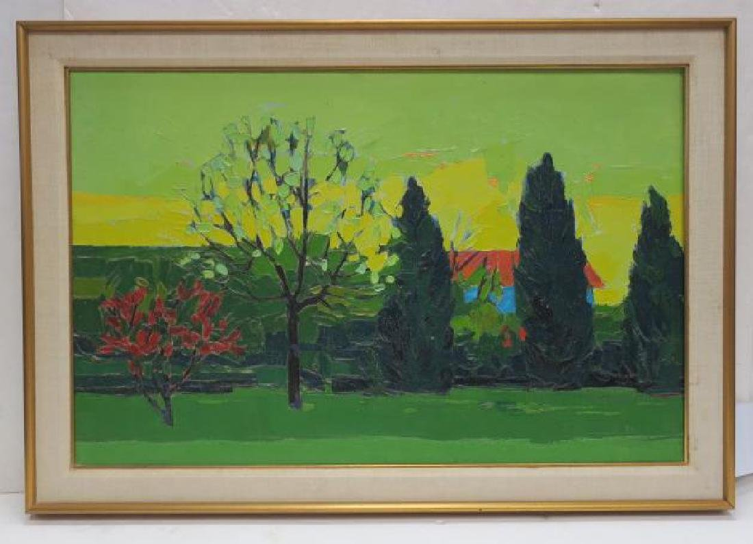 ROBERT E KLEIN Oil Landscape on Canvas: