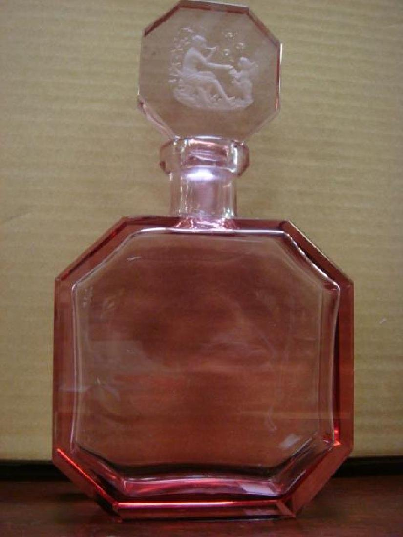 Unsigned MOSER Czech Alexandrite Cologne Bottle: