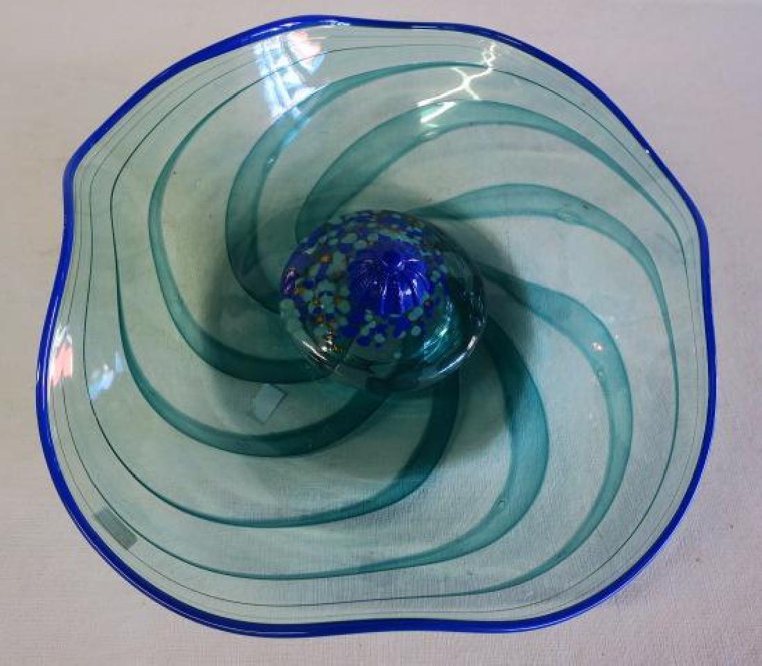 KOSTA BODA Art Glass Swirled Centerpiece Bowl:
