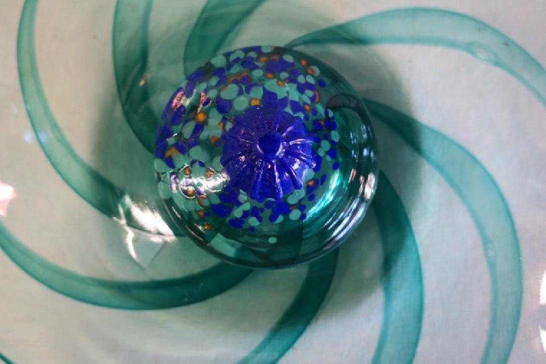 KOSTA BODA Art Glass Swirled Centerpiece Bowl: - 2