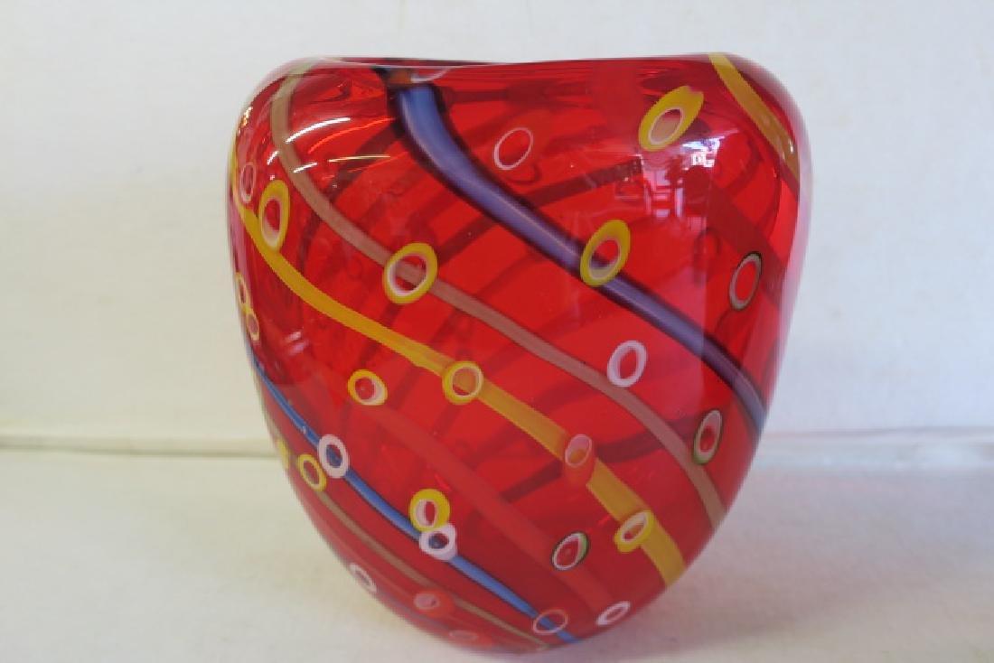 Two Modern Art Glass Vases: - 2