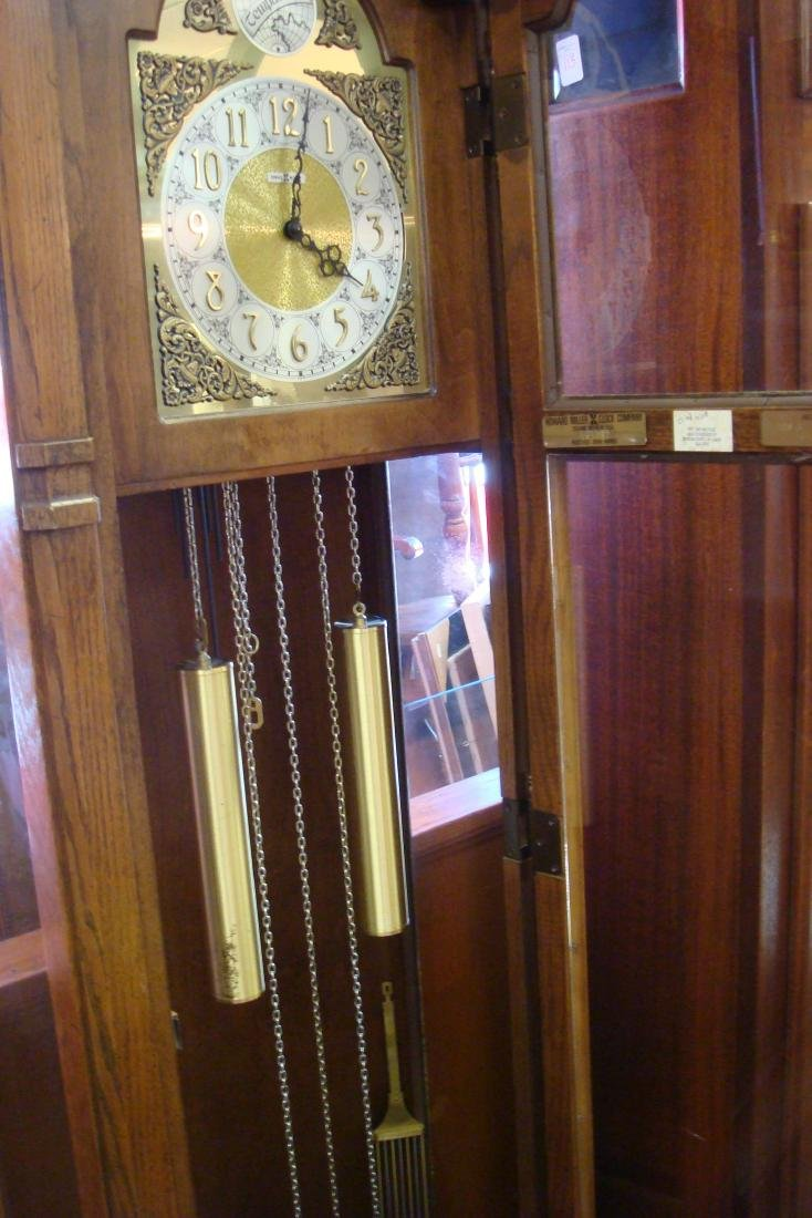 HOWARD MILLER Long Case Clock with Pendulum, Weights: - 2