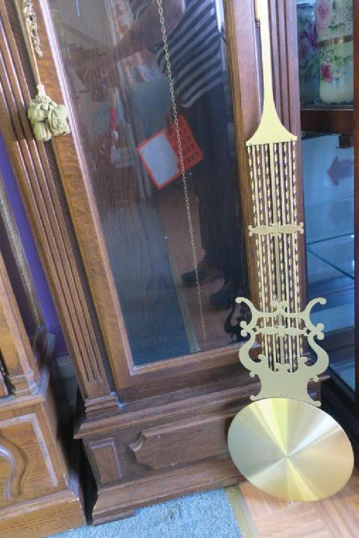 Western Germany Oak Tall Case Weight Driven Clock: - 3