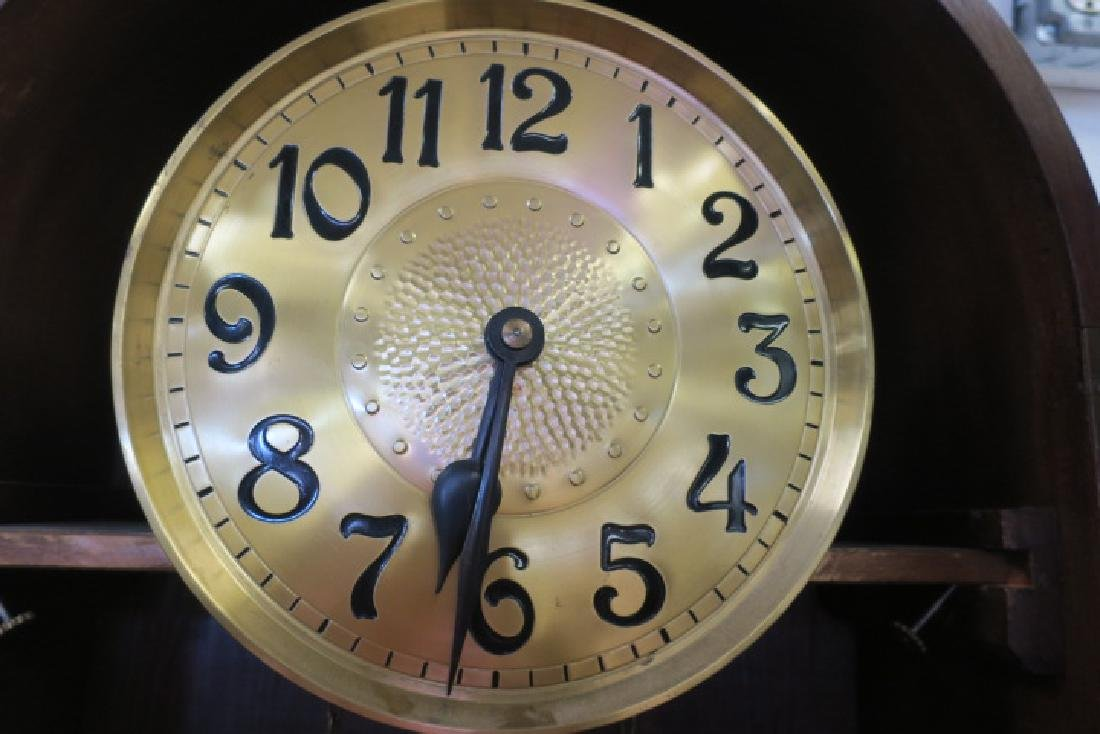 Oak Tall Case Weight Driven Clock, CA 1910: - 4