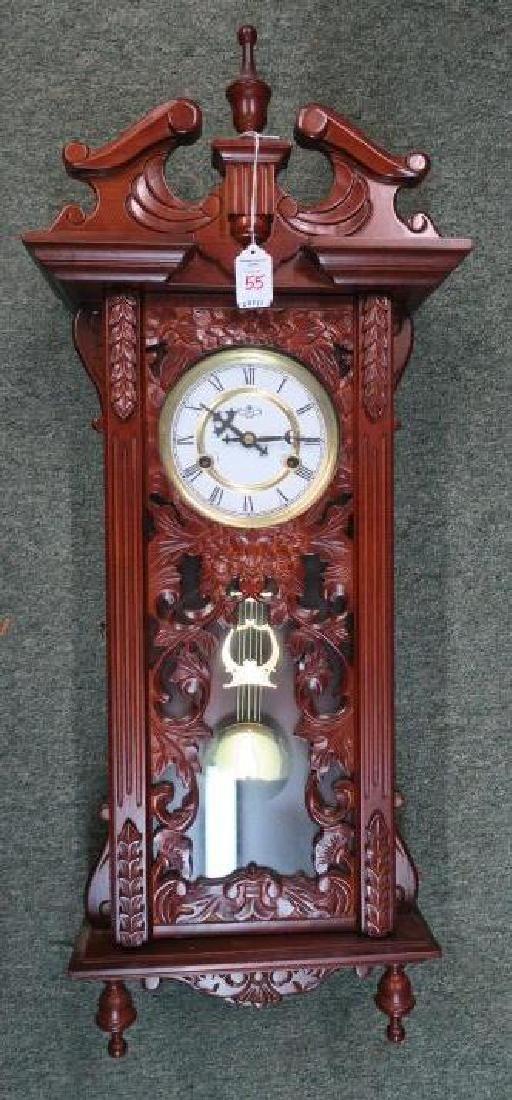 D & A Wall Clock with Key & Pendulum: