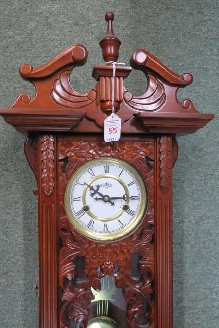 D & A Wall Clock with Key & Pendulum: - 2
