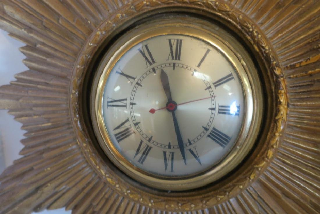 Mid Century Modern Starburst Wall Clock: - 2