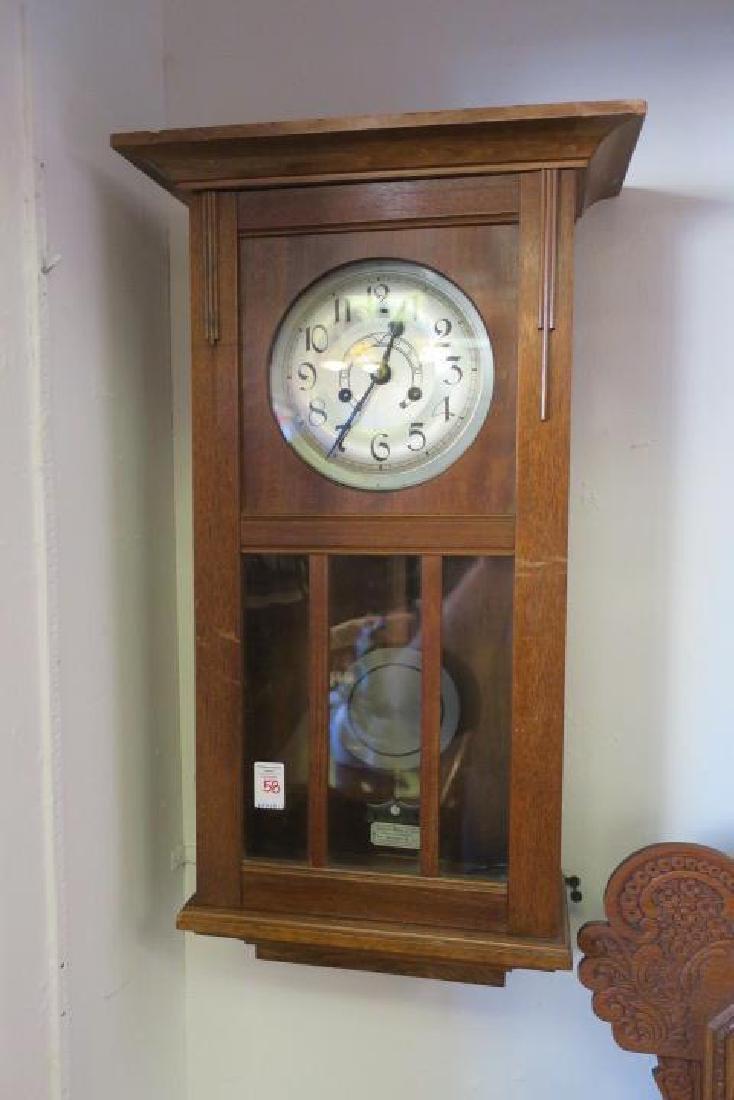 RICHARD MUHLE East German Walnut Case Wall Clock: