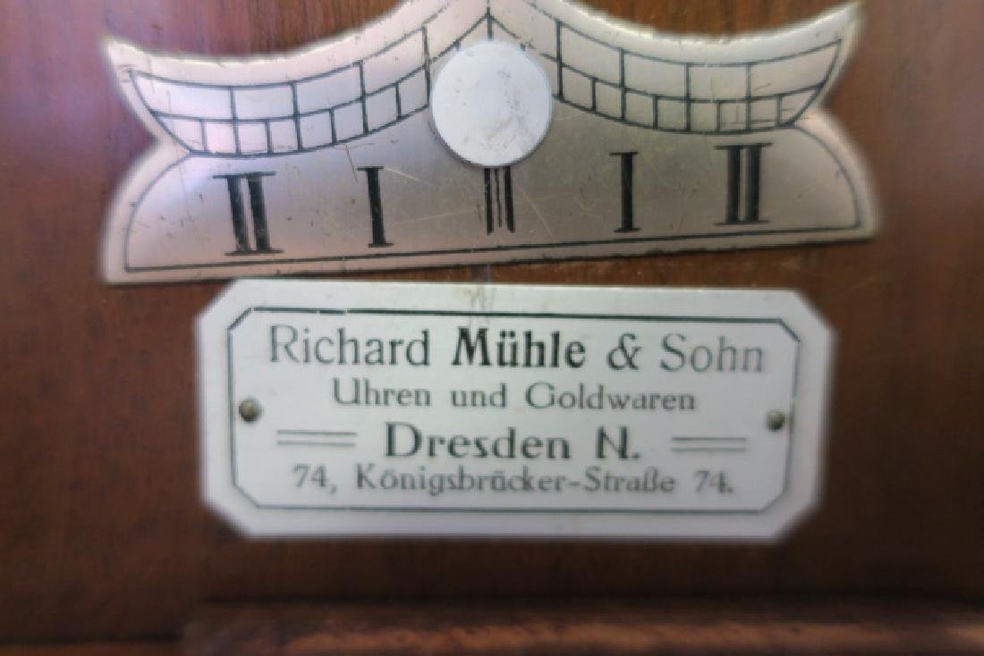 RICHARD MUHLE East German Walnut Case Wall Clock: - 3