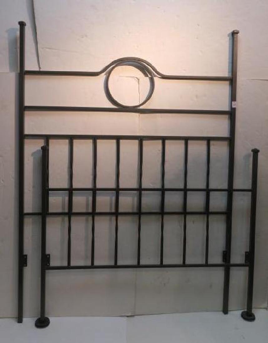 Art Deco Iron Bed, Headboard & Footboard: